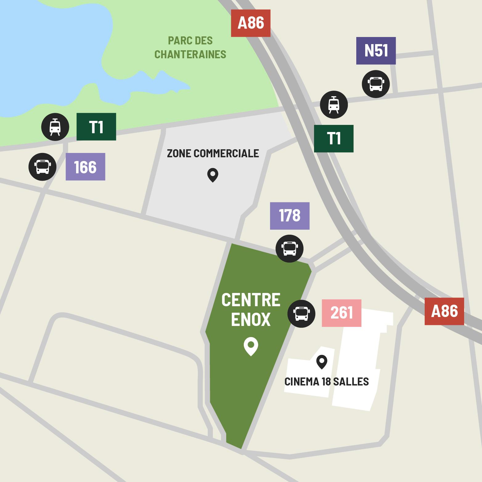 Carte d'accès Centre Enox Gennevilliers